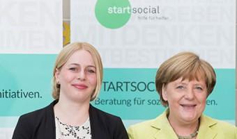 Youth Bank zu Gast bei Angela Merkel
